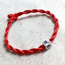 Náramky - Lucky Red Zodiac Sign Bracelet / Náramok proti urieknutiu so symbolom znamenia (Škorpión) - 11010139_