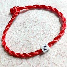 Náramky - Lucky Red Zodiac Sign Bracelet / Náramok proti urieknutiu so symbolom znamenia (Strelec) - 11010140_