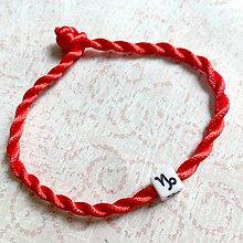 Náramky - Lucky Red Zodiac Sign Bracelet / Náramok proti urieknutiu so symbolom znamenia (Kozorožec) - 11010141_