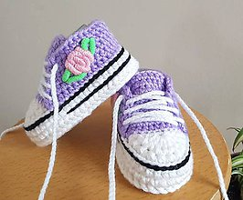 Topánočky - Tenisky s kvetinkou - 11011470_