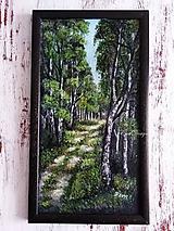 Obrazy - Leto v lese - olejomaľba - 11009066_