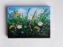 Lúčne kvety - olejomaľba