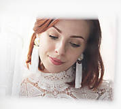 Náušnice - Svadobné náušnice s vyšívanými lístkami - 11010828_