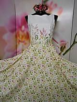 """Šaty - Maľované dlhé spoločenské šaty """" Lesná lúka """" - 11009073_"""