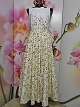 """Šaty - Maľované dlhé šaty """" Lesná lúka """" - 11009074_"""