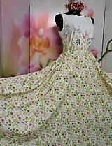 """Šaty - Maľované dlhé šaty """" Lesná lúka """" - 11009138_"""