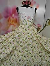 """Šaty - Maľované dlhé šaty """" Lesná lúka """" - 11009147_"""