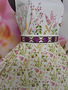 """Šaty - Maľované dlhé šaty """" Lesná lúka """" - 11009068_"""