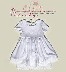 Detské oblečenie - Rozprávkové šatičky - Biela víla - 11009007_