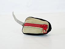 Iné tašky - Kožená kľúčenka - myška - čierna - 11010764_