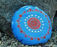 Úžitkový textil - Maľovaný ručne šitý meditačný vankúš ALAKNANDA - 11010822_