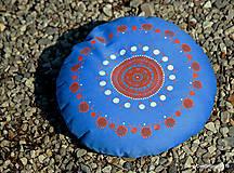 Úžitkový textil - Maľovaný ručne šitý meditačný vankúš ALAKNANDA - 11010830_