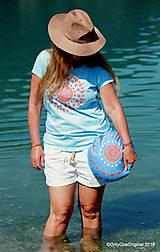 Úžitkový textil - Maľovaný ručne šitý meditačný vankúš ALAKNANDA - 11010832_