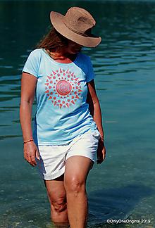 Tričká - Dámske tričko batikované, maľované NANDA DEVI - 11010733_