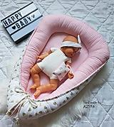 Textil - hniezdo pre bábätko z vafle bavlny v baby ružovej - 11011540_