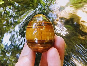 Drobnosti - Yoni vajíčko Tigrie oko - 11011314_
