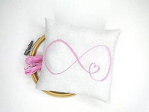 Prstene - Svadobný vankúšik pod obrúčky (Nekonečná láska) - 11010577_