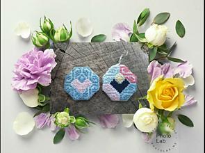 Náušnice - Náušničky pastel love - 11011226_