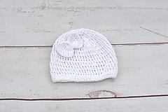 Biela letná čiapka BIO/ORGANIC (s mašličkou)