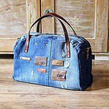 """Veľké tašky - Cestovná retro """"recy-taška"""" - 11011281_"""