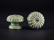 Nábytok - Úchytka - knopka olivová velká - vzor BÁBOVKA - 11009966_
