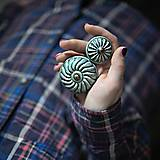 Nábytok - Úchytka - knopka modrá velká - vzor BÁBOVKA - 11010168_