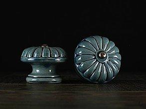 Nábytok - Úchytka - knopka modrá velká - vzor BÁBOVKA - 11010171_