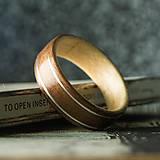 Prstene - Drevená obrúčka- Mansonia / KOTO - 11010582_