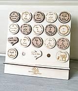 Darčeky pre svadobčanov - Drevené magnetky - 11009398_