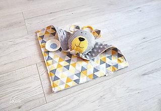 Hračky - Macko mojkáčik sivo-okrový - 11011468_