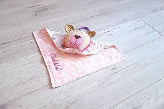 Hračky - Macko mojkáčik ružový - 11011547_