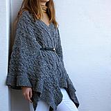 Iné oblečenie - Dámske pončo  - 100% tvíd - 11011030_