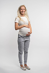 Tehotenské/Na dojčenie - Tehotenské tepláky Klasic - 11010846_