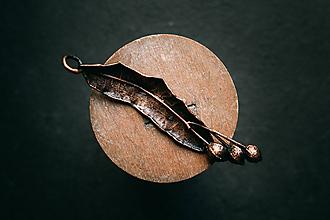 Náhrdelníky - Prívesok lipový plod patina - 11011308_