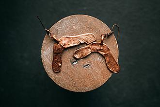Náušnice - Náušnice javorové plody - 11011347_