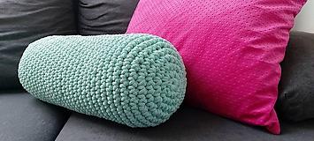 Úžitkový textil - Háčkovaný vankúš - 11009644_