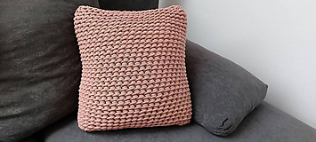 Úžitkový textil - Háčkovaný vankúš - 11009825_