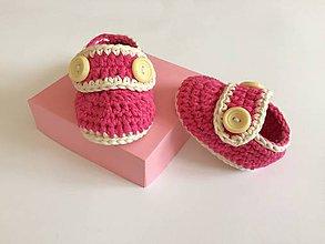 Topánočky - Topánočky retro pink - 11010537_