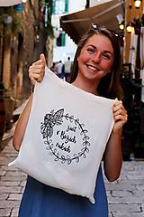 "Nákupné tašky - Taška-plátená, bavlnená ""Život v Božích rukách"" - 11010672_"