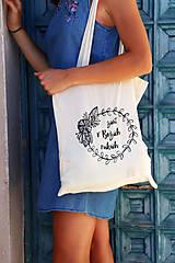 "Nákupné tašky - Taška-plátená, bavlnená ""Život v Božích rukách"" - 11010681_"