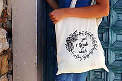 "Nákupné tašky - Taška-plátená, bavlnená ""Život v Božích rukách"" - 11010682_"