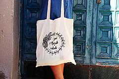 "Nákupné tašky - Taška-plátená, bavlnená ""Život v Božích rukách"" - 11010683_"
