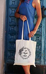 "Nákupné tašky - Taška-plátená, bavlnená ""Život v Božích rukách"" - 11010684_"