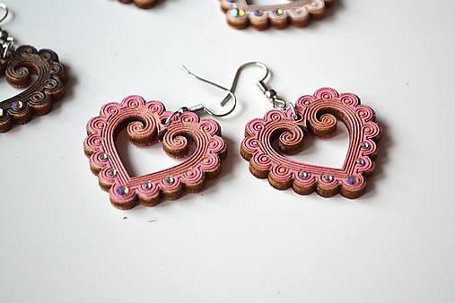 Náušničky Zuzička (Ružová)