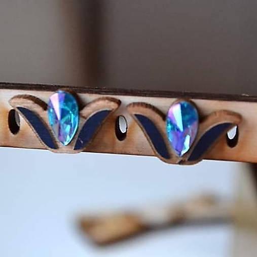 Náušničky Agátka (Modrá)