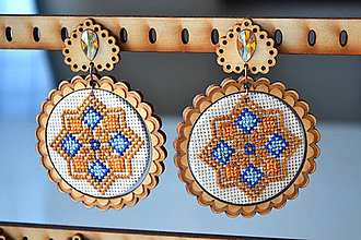 Náušnice - Náušničky Elenka (Pestrofarebná) - 11010350_