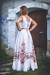 Šaty - Svadobné šaty (Vajnorský ľudový ornament zo Slovenska) - 11009790_