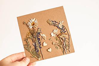 """Papiernictvo - Bylinková pohľadnica """" full floral"""" - 11011521_"""