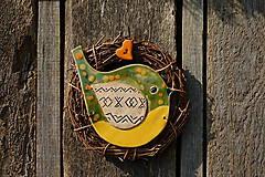 Dekorácie - Vtáčik vo venčeku č. 102 - 11010802_