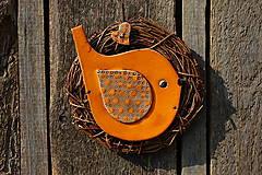 Dekorácie - Vtáčik vo venčeku č. 103 - 11010803_